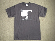 Songs of Separation T-shirt (white on grey)