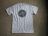 Tim Stop T-shirt (grey on white)